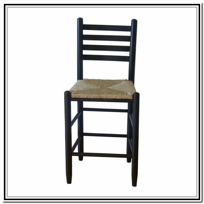 Ladder Back Bar Stools With Rush Seats