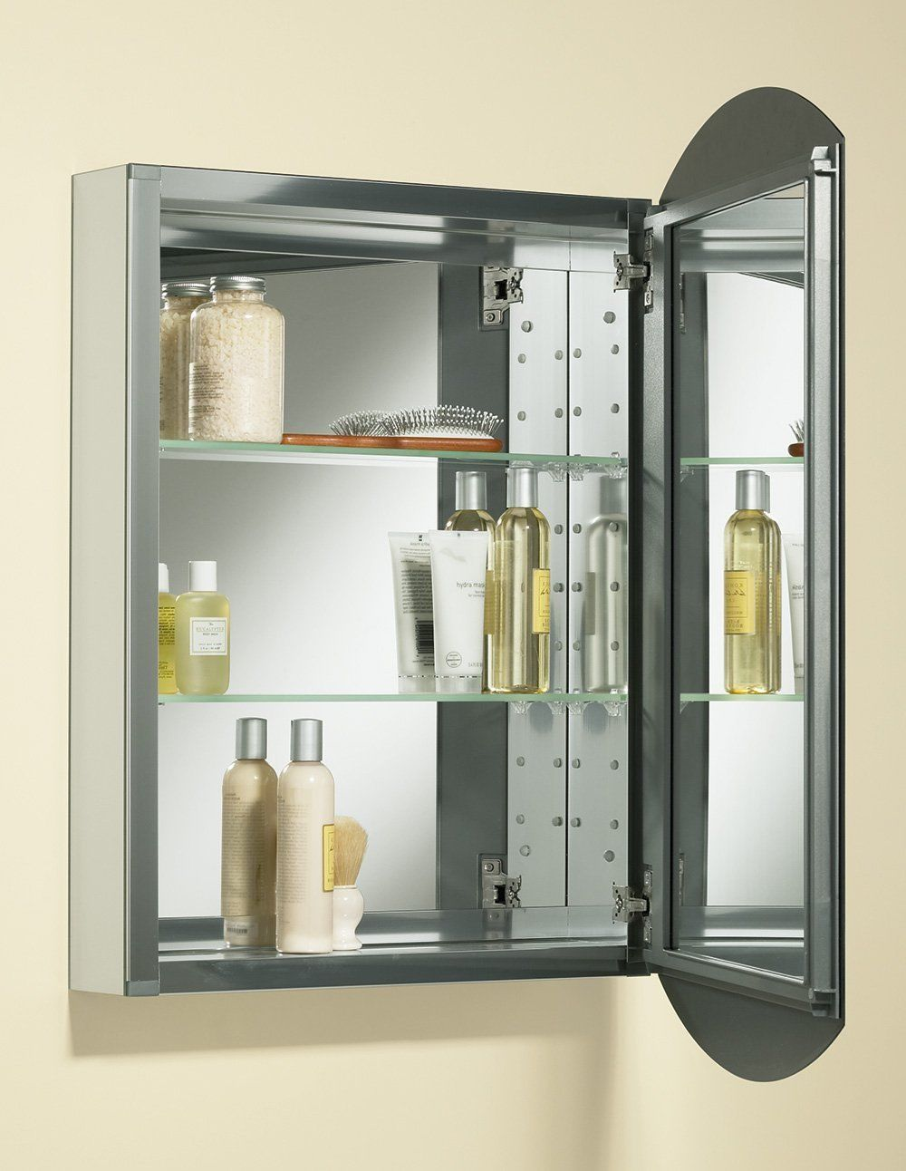 Large Mirrored Medicine Cabinet Recessed