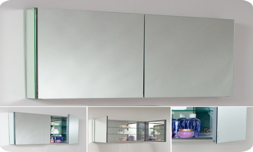 Large Recessed Mirrored Medicine Cabinets