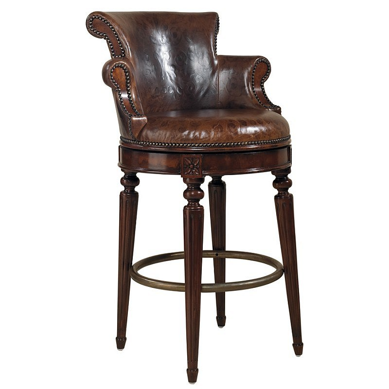 Leather Bar Stools Swivel