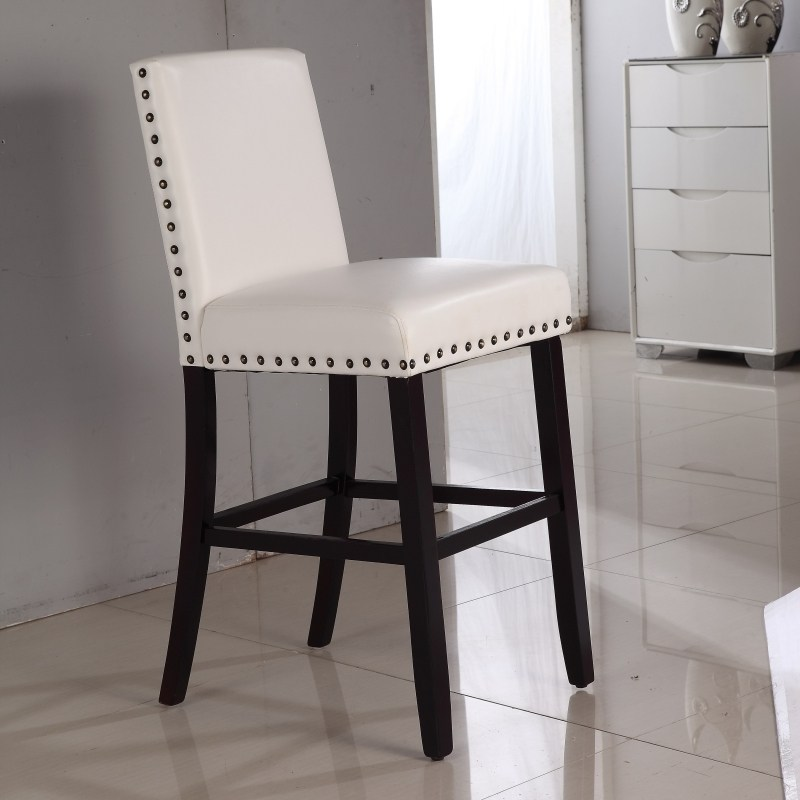 Leather Bar Stools With Nailheads
