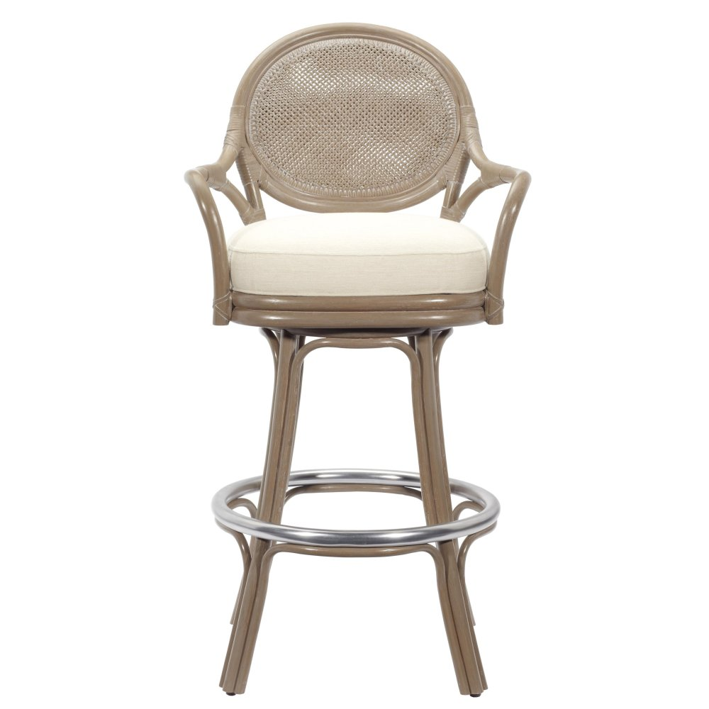 Leather Swivel Bar Stools With Arms