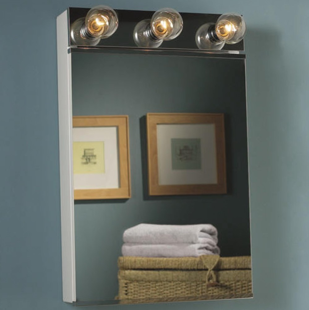 Lighted Medicine Cabinet With Electrical Outlet