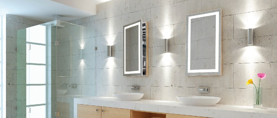 Lighted Mirror Medicine Cabinet