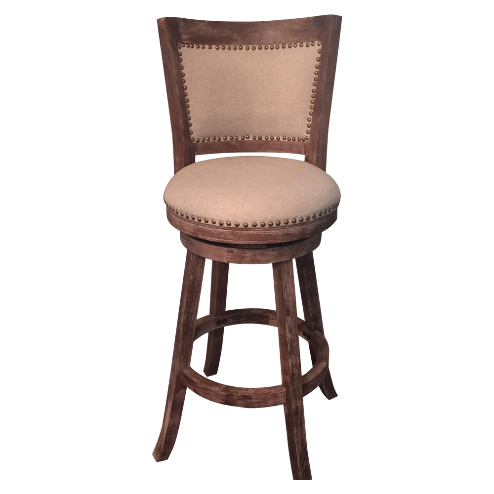 Linen Nailhead Bar Stools