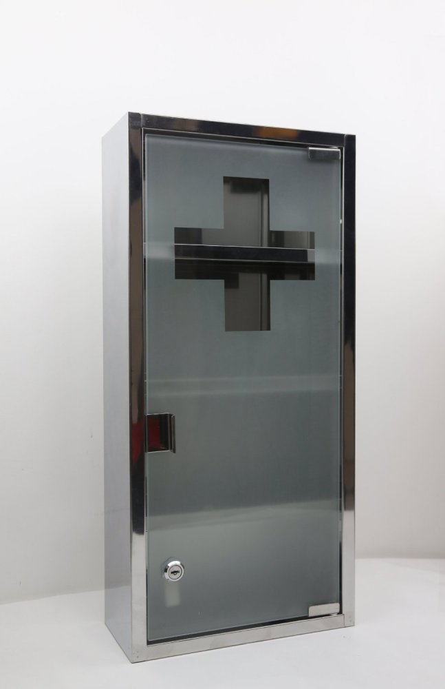 Locking Medicine Cabinet Stainless Steel