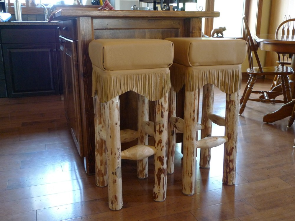 Log Bar Stools Alberta