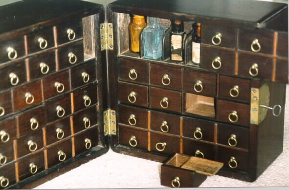 Medical Apothecary Cabinet