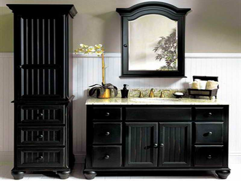Medicine Cabinet Black