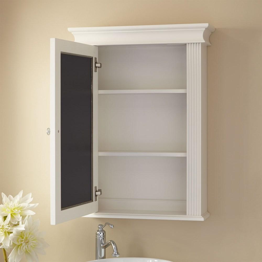 Medicine Cabinet White Mirror