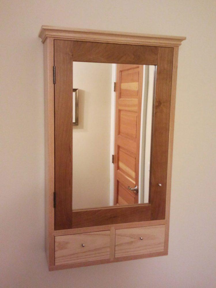 Medicine Cabinet Wood Door