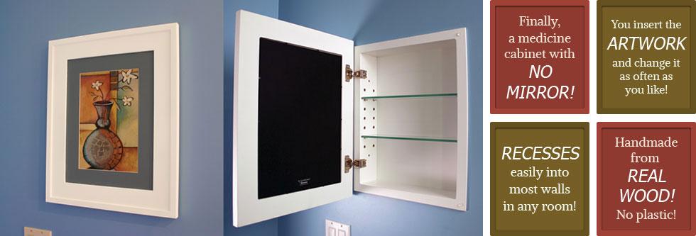 Medicine Cabinets Mirrorless