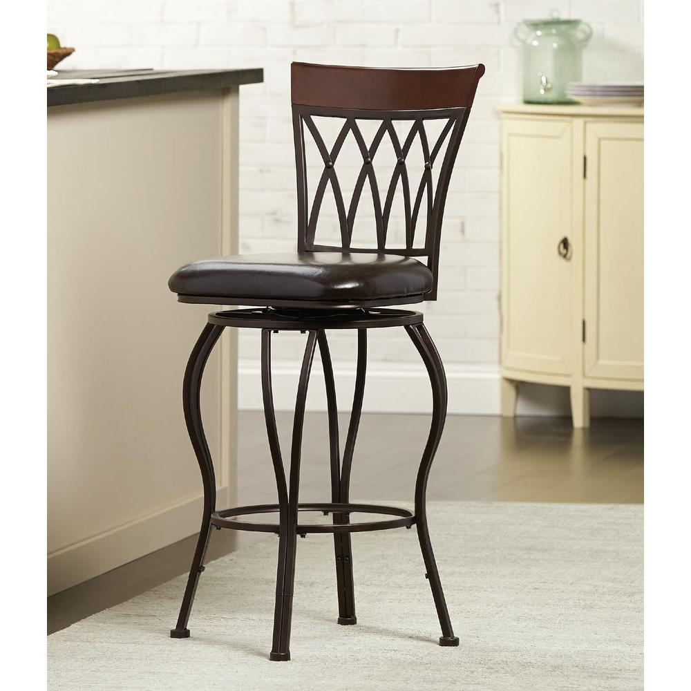 Metal Bar Stool With Cushion