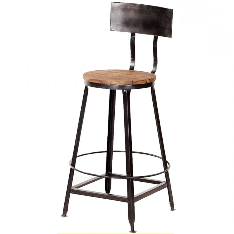 Metal Bar Stools With Wood Seat