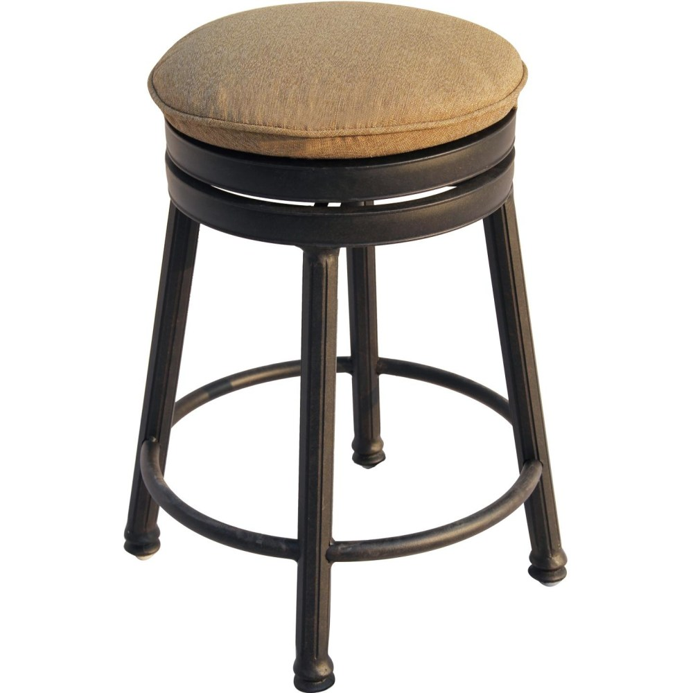 Metal Counter Height Backless Bar Stools