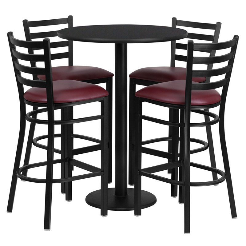 Metal Ladder Back Bar Stools