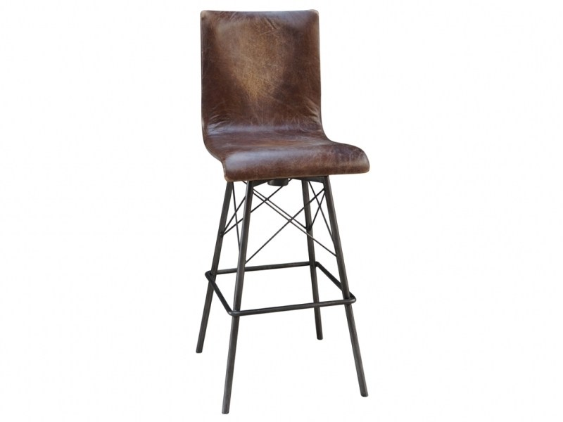 Metal Swivel Bar Stools With Back And Arms