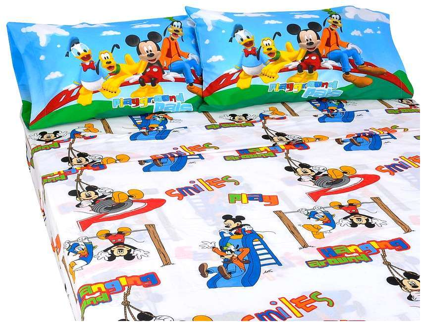 Mickey Mouse Clubhouse Bed Set For Toddlers 4 Pc