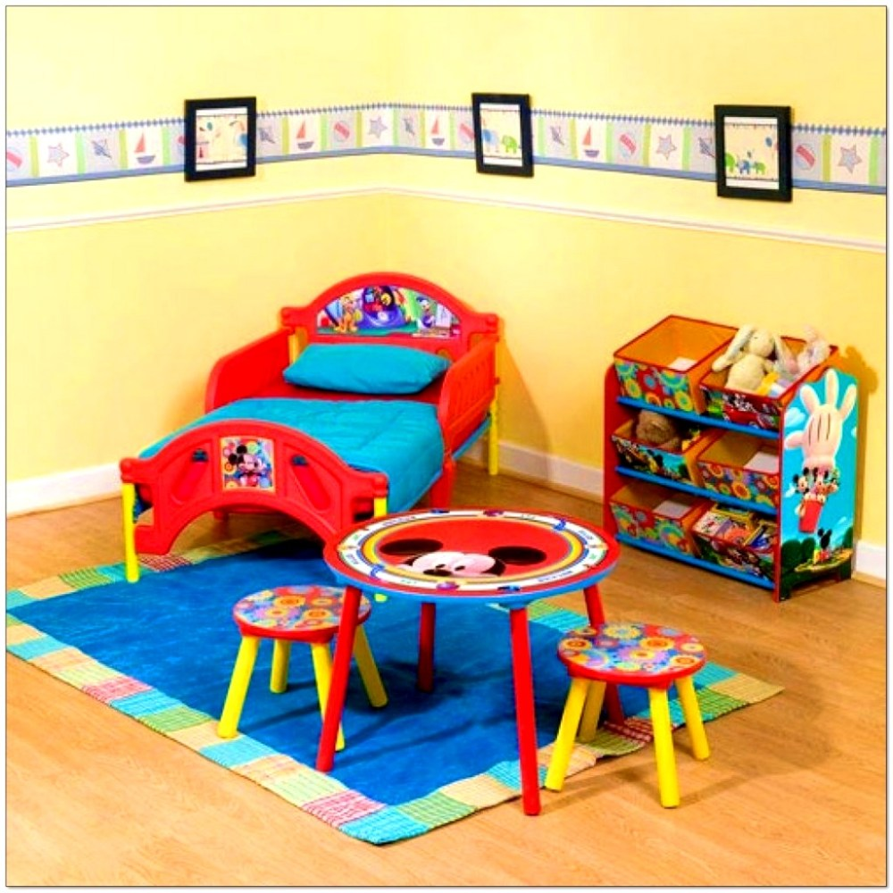 Mickey Mouse Toddler Bed Set Walmart