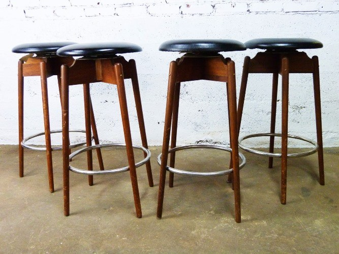 Mid Century Swivel Bar Stools