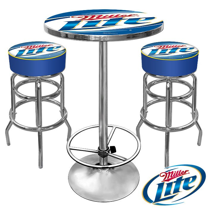 Miller Lite Bar Stools And Table