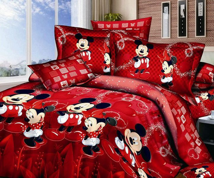 Minnie Mouse Toddler Bed Set Red