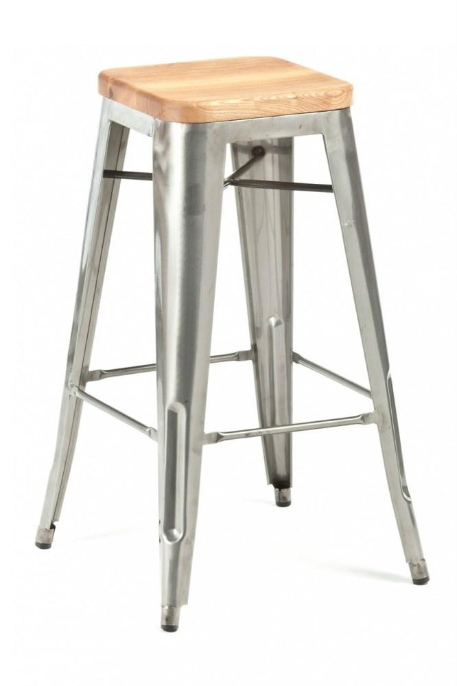 Modern Wood And Metal Bar Stools