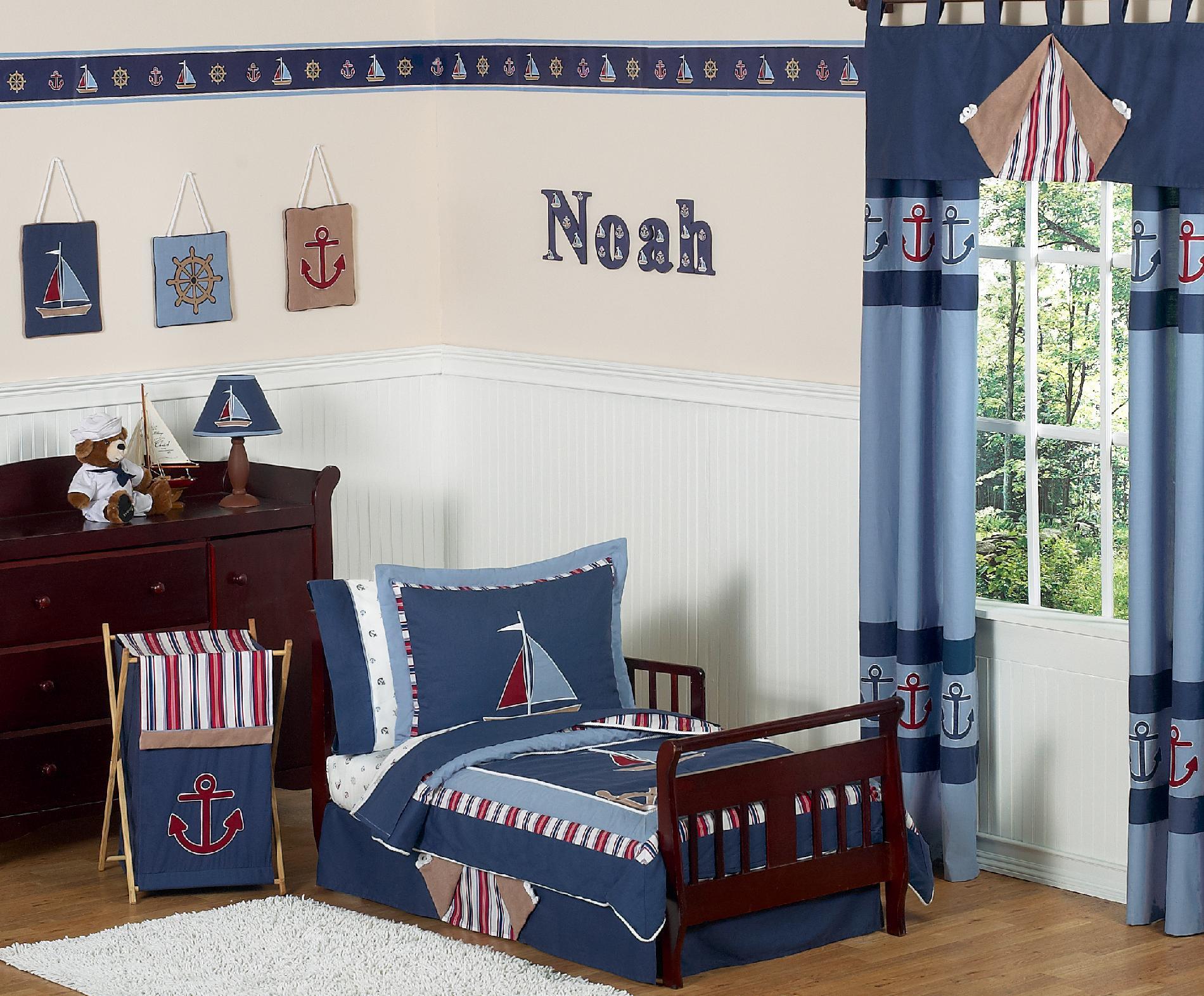 Nautical Nights Toddler Bedding