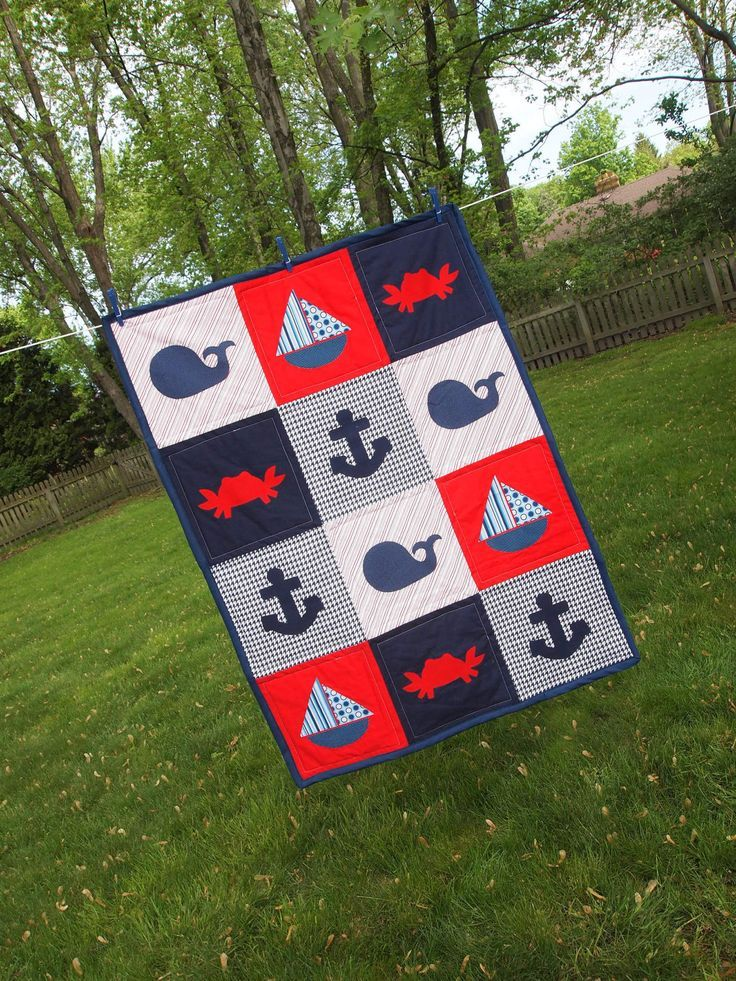 Nautical Toddler Quilt