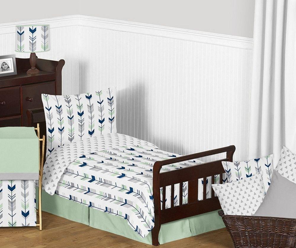 Navy Toddler Bedding Set