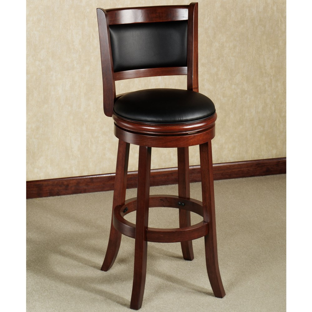 Oak Bar Stools With Backs And Arms