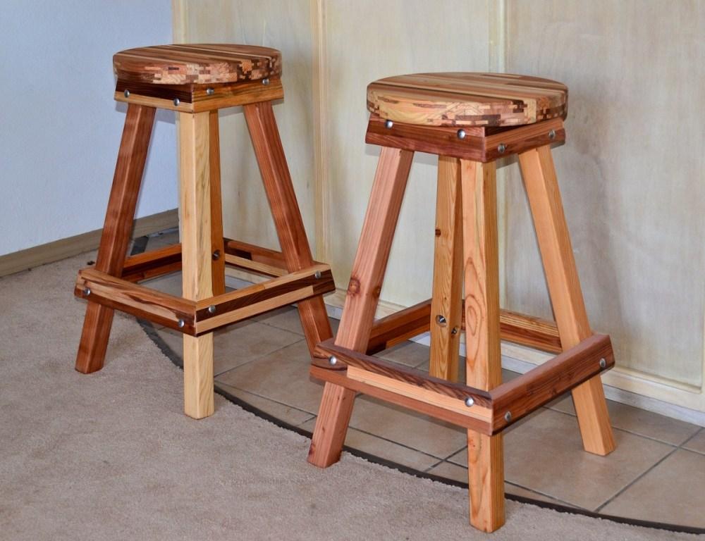 Oak Bar Stools Without Backs