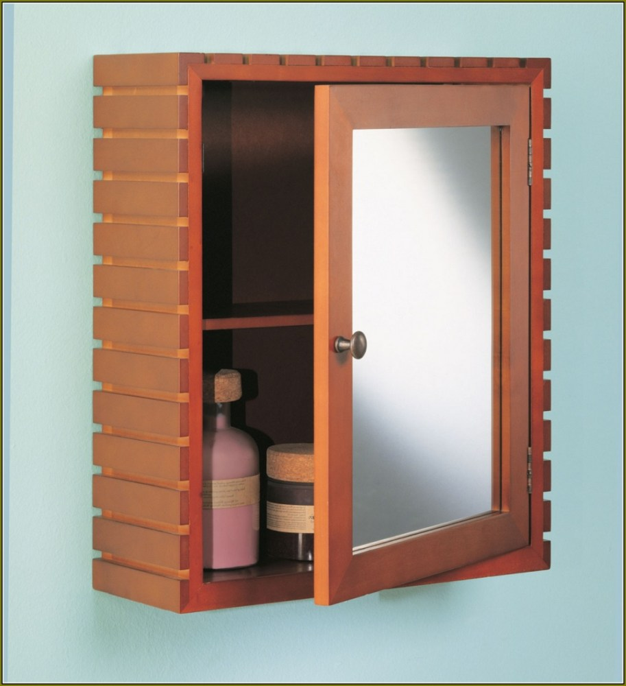 Oak Bathroom Medicine Cabinet With Mirror