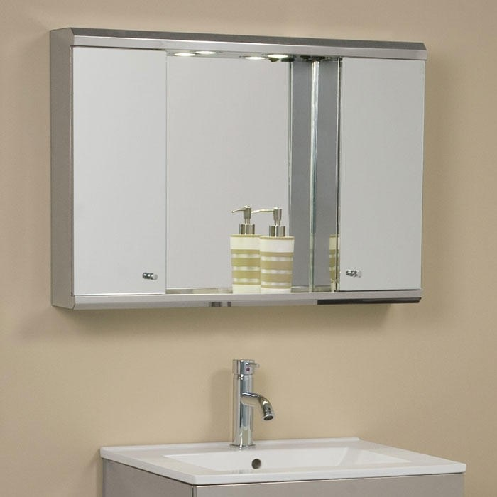 Oak Corner Medicine Cabinet With Mirror