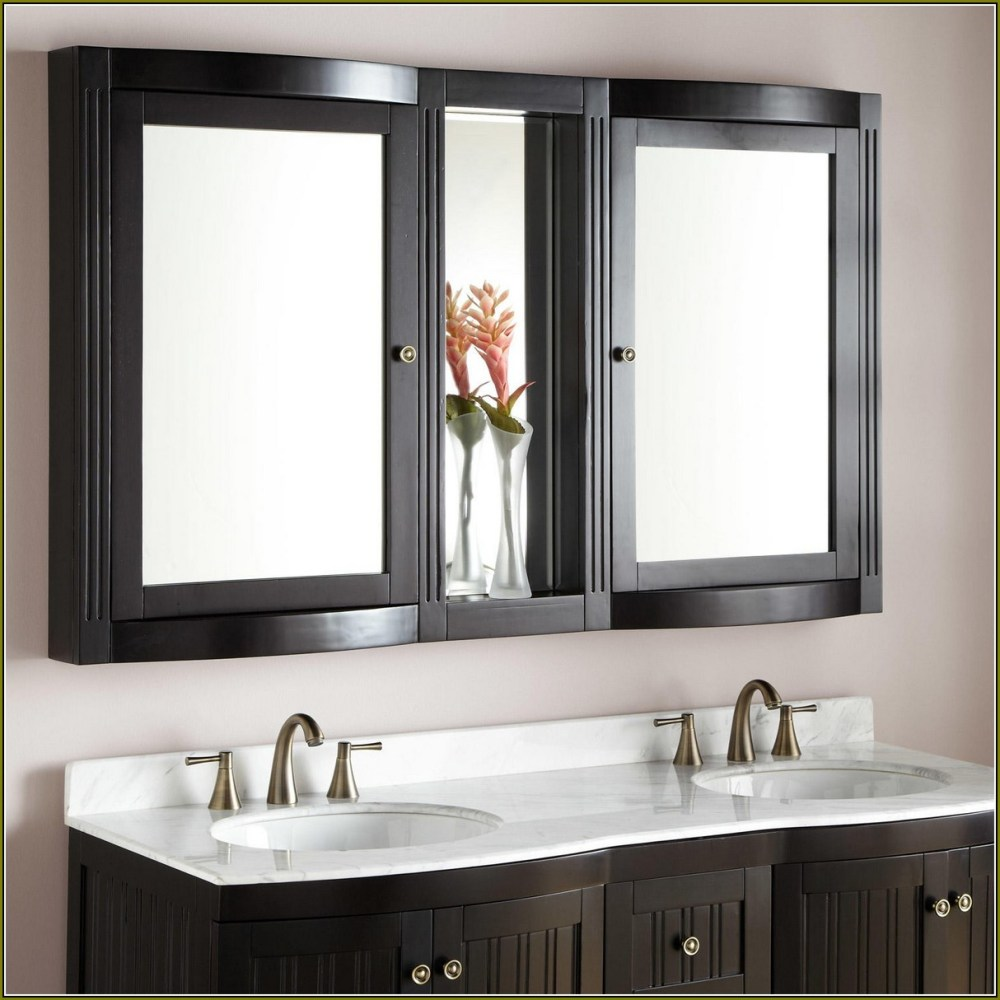 Oak Medicine Cabinet With Mirror And Lights