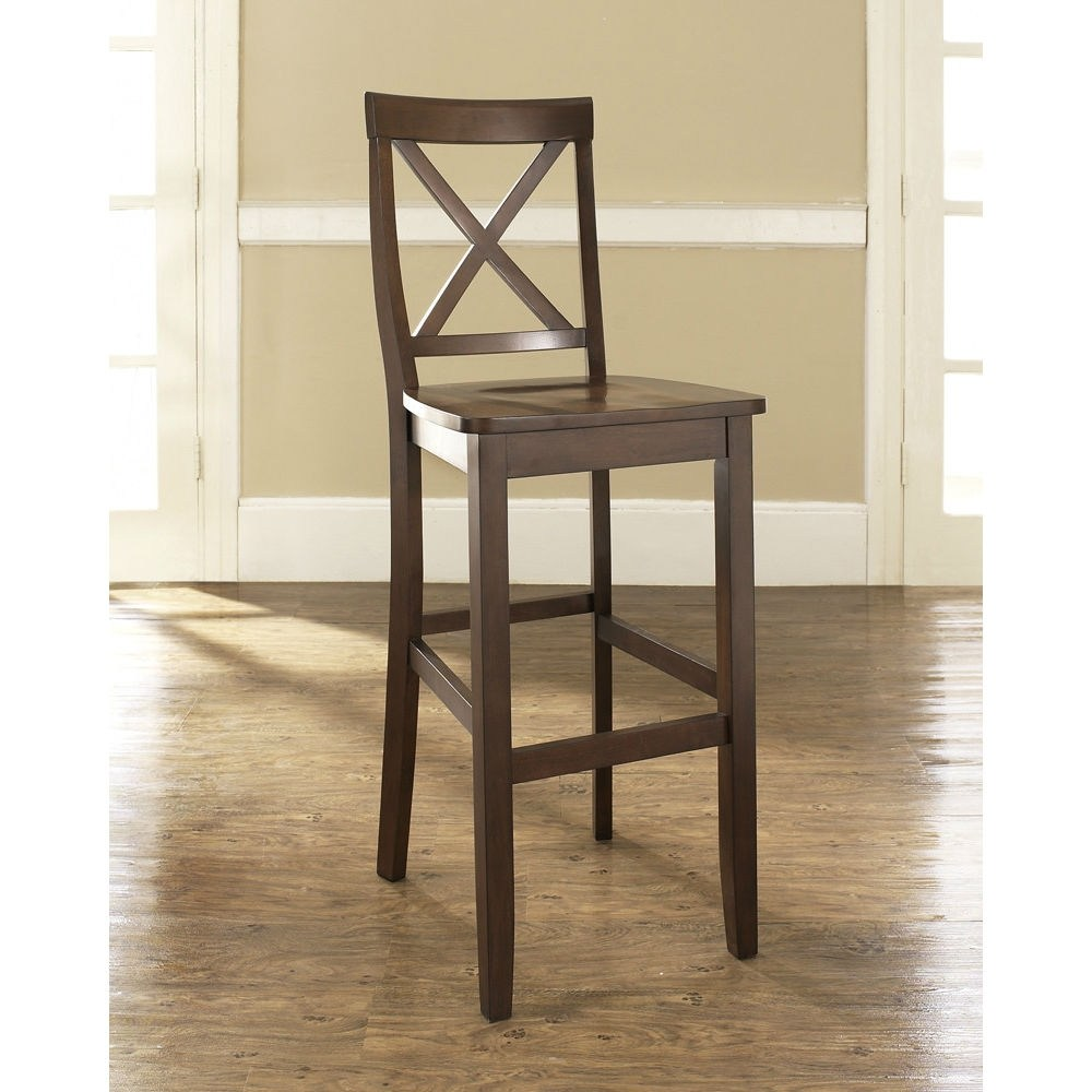 Oak Swivel Bar Stools With Back And Arms