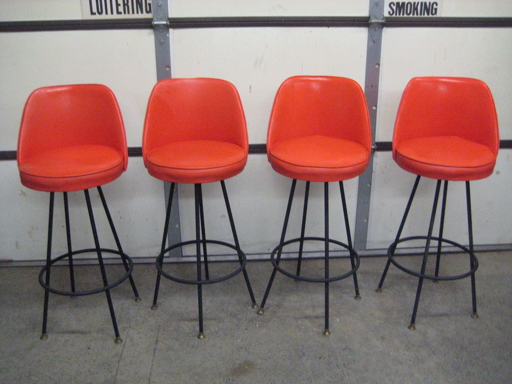 Orange Bar Stools Ebay