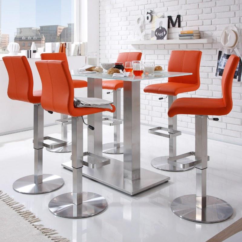 Orange Bar Stools