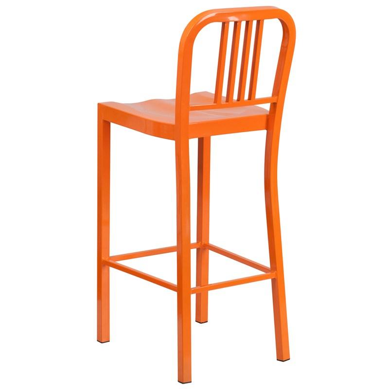 Orange Metal Bar Stools