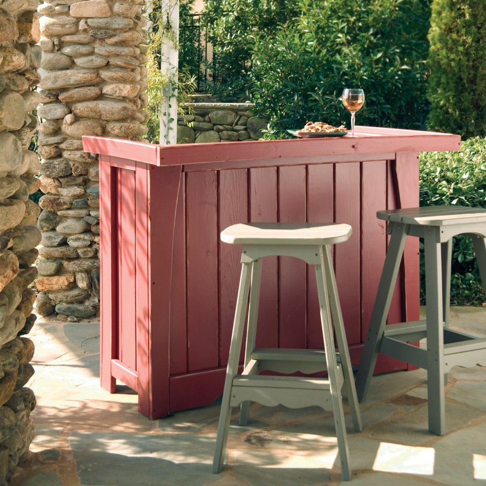 Outdoor Bar And Stool Set