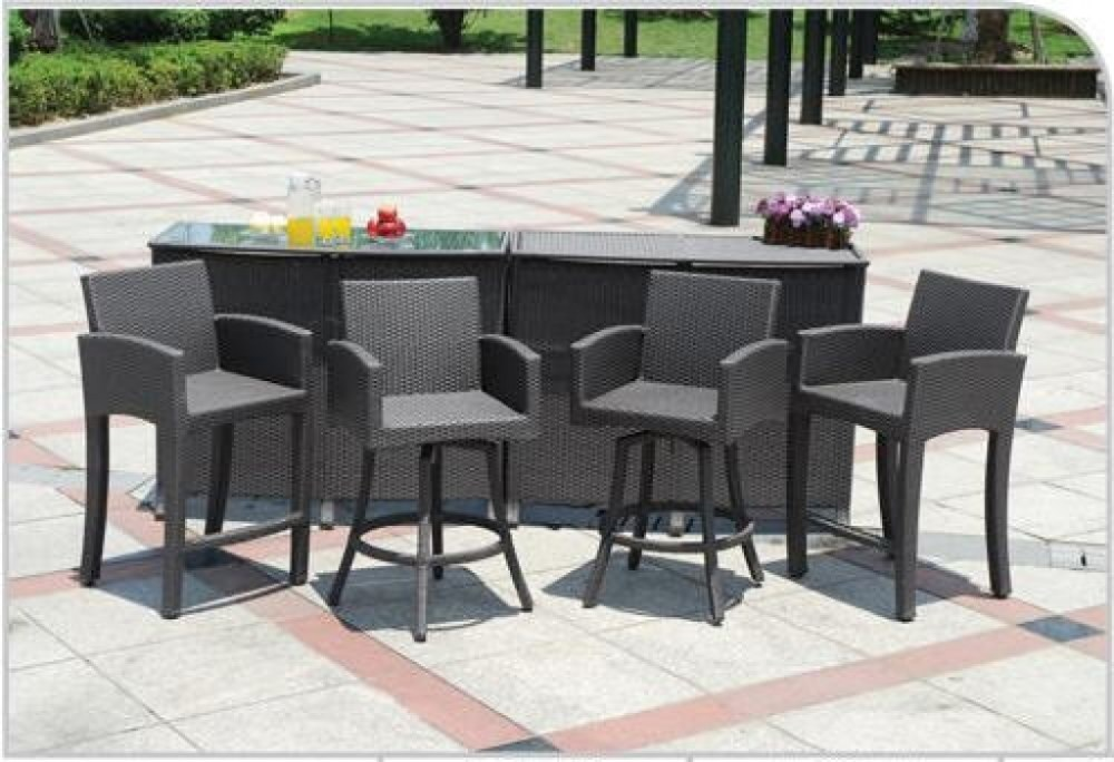 Outdoor Bar Stools And Table Set