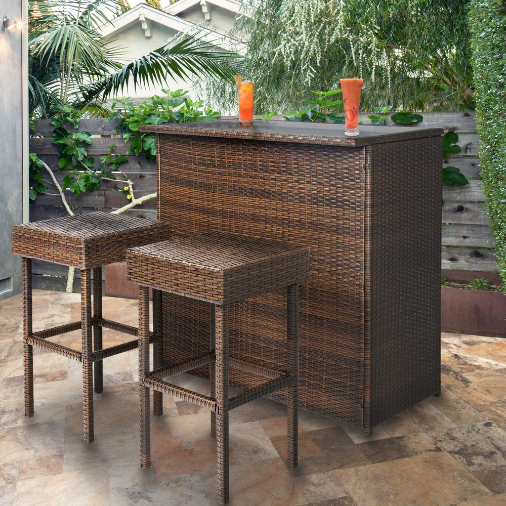 Outdoor Patio Bar Stools Wicker