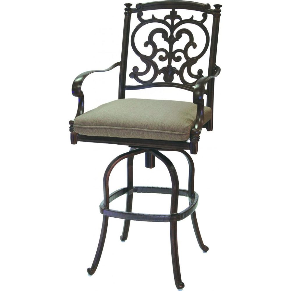 Outdoor Swivel Bar Stools With Back And Arms