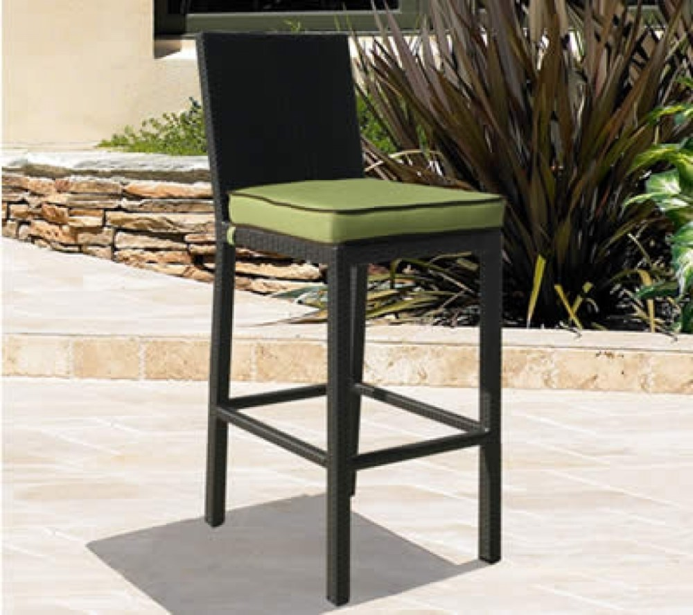 Outdoor Wicker Bar Stools With Arms
