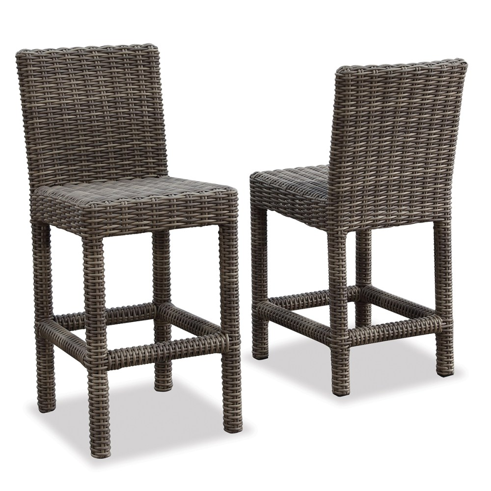 Outdoor Wicker Bar Stools With Backs
