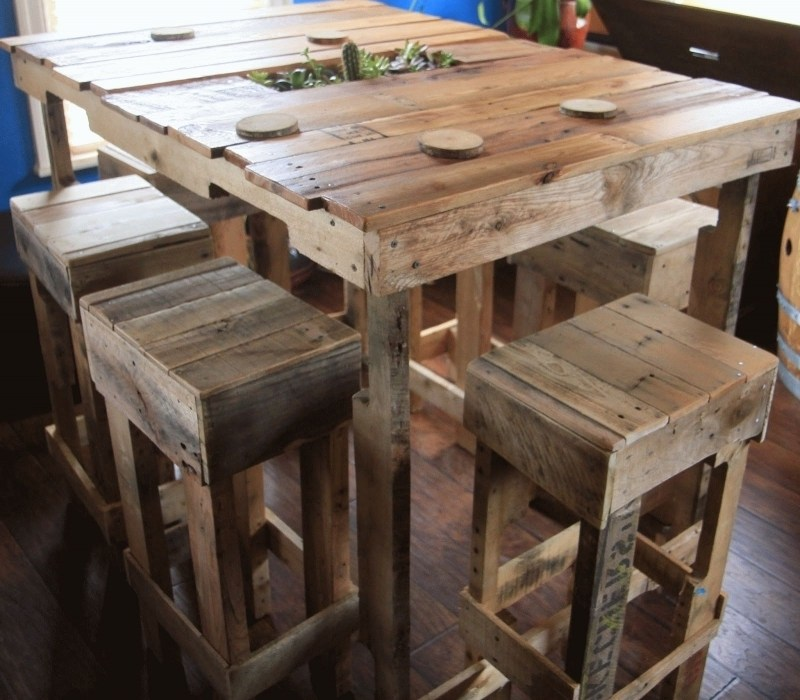 Pallet Bar Stool Plans