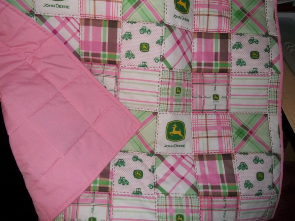 Pink John Deere Toddler Bedding