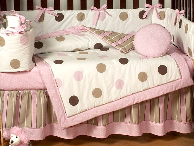 Pink Modern Toddler Bedding