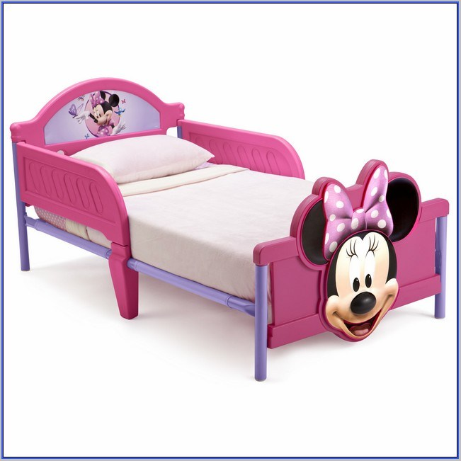 Pink Plastic Toddler Bed