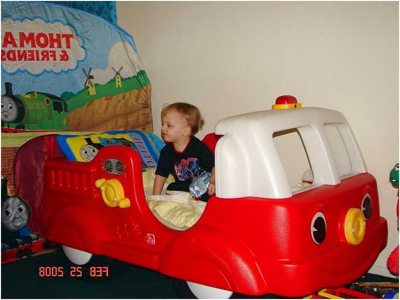 Plastic Fire Truck Toddler Bed